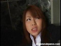 japanese office bitch asian cumshot