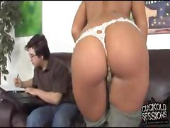 Ashli Orion goe black in front of her cuckold boyfriend