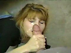 blowjob handjob sucking facial milf