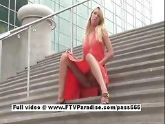 Brynn  blonde babe public flashing