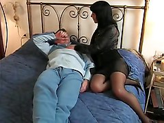 mom  milf  brunette  italian  stockings  black stockings  mature  european  wife  blowjob  bed  facial  cumshot
