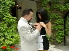 european reality maid brunette tight big tits blowjob handjob cumshot pornstar outdoor babe