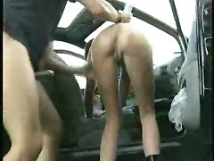 outdoor skinny piercing hardcore riding car anal ass to mouth blowjob handjob cumshot swallow public brunette