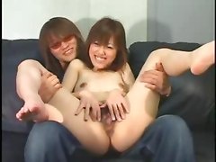 Creaming A Hairy Jap asian street meat