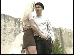 outdoor blowjob sex whore blonde