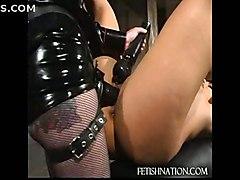fucked ass slut redhead latex bdsm fetish whore hard bondage