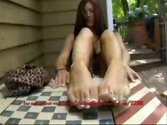 teen girl footjob feet soles