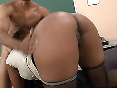 black  ebony  ass  big ass  from behind  cock ride Sinnamon Love