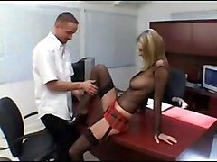 stockings cumshot hardcore blonde blowjob tattoo pussylicking pussyfucking facesitting