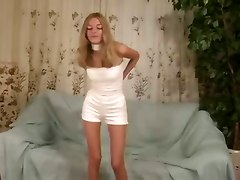 Blonde Teen Pleasures Her Pink Pussy