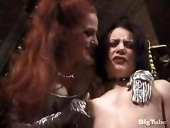 dominatrix spanks sexy bubble butt slave