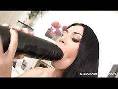 anal dildo gaping brunette toys masturbation solo gape highheels big ass extreme
