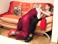 mom mature blowjob stockings licking