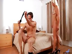 mature blonde blowjob cumshot facial