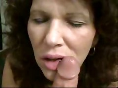 amateur homemade couple wife blowjob pov brunette big tits natural close up teasing cumshot mature