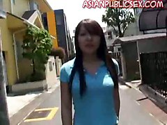 outdoor blowjob asian public oral
