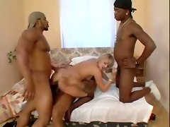 Black and Ebony Facials Group Sex