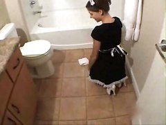 maid bathroom reality blowjob panties hardcore