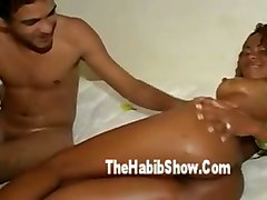 brunette latina brazilian big tits big tits amateur homemade oil piercing blowjob handjob riding