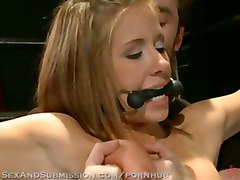 sexandsubmission fetish bondage whipping brunette tied toys vibrator hardcore