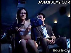 Japanese Gal Masturbated By Her Guy At The Movies