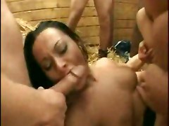 Sandra Romain Gangbang Black Cock Oral Europran Brunette Anal DoubleAnal Gang Bang DP Brunette