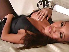 pantyhose masturbating solo big tits shaved
