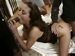 brunette tight gangbang panties lingerie groupsex interracial doggystyle blowjob handjob double penetration pornstar small tits face fuck deepthroat gagging stockings cumshot facial swallow anal