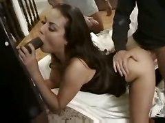 brunette tight gangbang panties lingerie groupsex interracial doggystyle blowjob handjob double penetration pornstar small tits face fuck deepthroat gagging stockings cumshot facial swallow anal