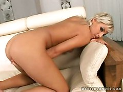 blonde tattoo masturbation solo teasing dildofucking bigbutts