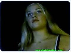 blonde slut masturbating solo webcam xxx 19