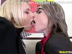 hardcore milf blowjob clothed threesome glasses pussyfucking