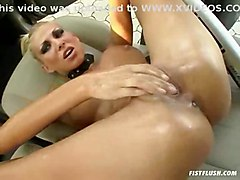 pussy tits boobs blonde babe ass butt slut fingering squirt masturbating solo masturbate car heels model whore fisting insertion fist high