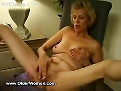blonde mature masturbation solo older