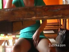 Upskirt Panties Brunette Exhibitionism Czech Public Voyeur FlashingAmateur Home made Upskirt Down Blouse