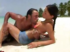 outdoor beach bikini tight brunette pussylicking riding blowjob ass licking anal hardcore ass to mouth facial cumshot latina