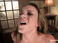 blonde masturbation solo sybian machine