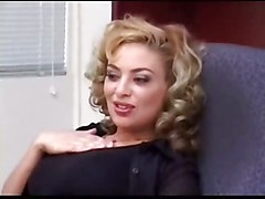 stockings hardcore blonde blowjob tattoo pussyfucking office