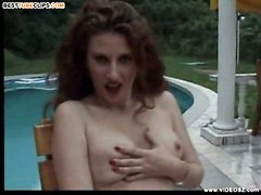 milf masturbation tits dildo outdoor