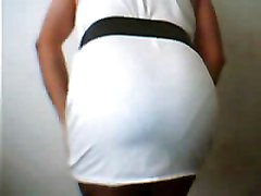 Horny Transsexual Flaunting Panties