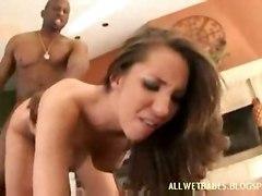 anal interracial blowjob brunette bigbutt asslicking booty spanked