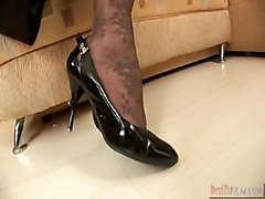 stockings blonde creampie doggystyle bigcock highheels pussyfucking