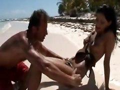 hot beach sea sex fuck outdoor nude sahved cunt pussy lick suck blowjob fuck