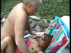 latina milf facial older boobs tits cumshot fuck outdoor