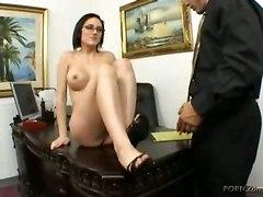 office sex big tits cum riding cock blowjob