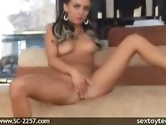 pussy fingering dildo sexy chick big tits