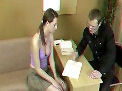 stereo spanking teen 3D brunette
