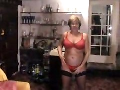 mature strip masturbation stockings amateur