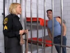 Krissy Lynn In Black Pantyhose Has Fun In The Jail
