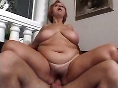 mature big tits  redhead chubby blowjob dick sucking fucking